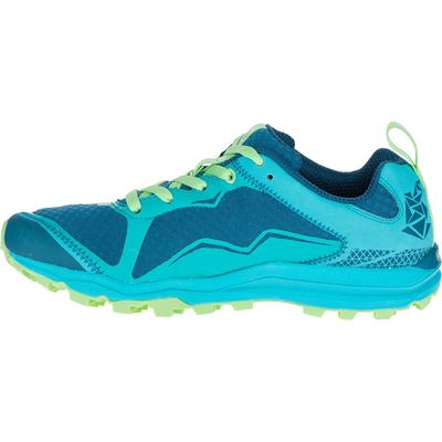 Merrell All Out Crush Light Ladies Running Shoes-Green-Side