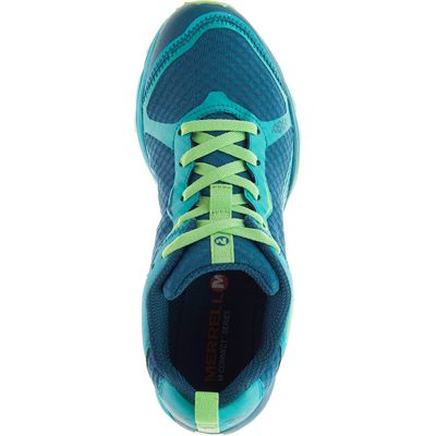 Merrell All Out Crush Light Ladies Running Shoes-Green-Top