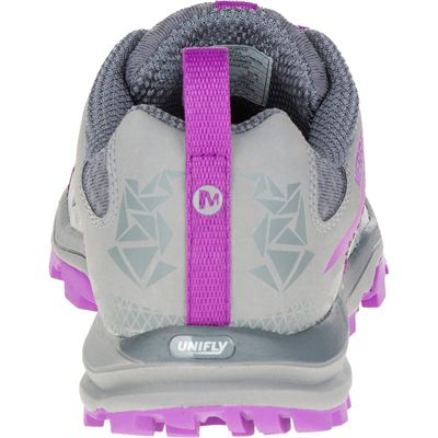 Merrell All Out Crush Light Ladies Running Shoes-Grey-Back