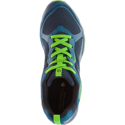 Merrell All Out Crush Light Mens Running Shoes - Green Above