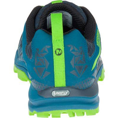Merrell All Out Crush Light Mens Running Shoes - Green Back