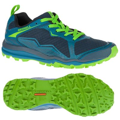 Merrell All Out Crush Light Mens Running Shoes - Green Main Image
