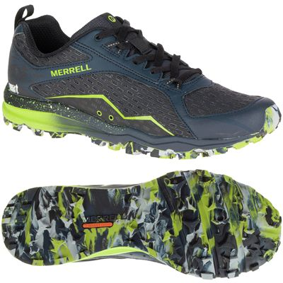 Merrell All Out Crush Mens Running Shoes-Black-Green-Colour