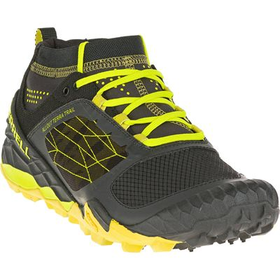 Merrell All Out Terra Trail Mens Running Shoes - Angled