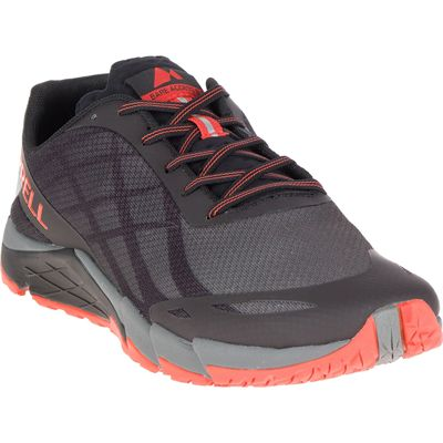 Merrell Bare Access Flex Mens Running Shoes - Black - Angled