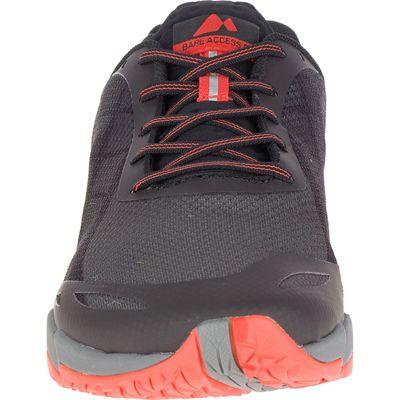 Merrell Bare Access Flex Mens Running Shoes - Black - Front