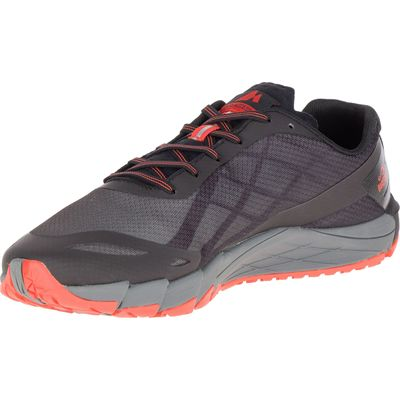 Merrell Bare Access Flex Mens Running Shoes - Black - Angled2