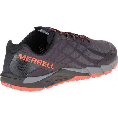Merrell Bare Access Flex Mens Running Shoes - Black - Back