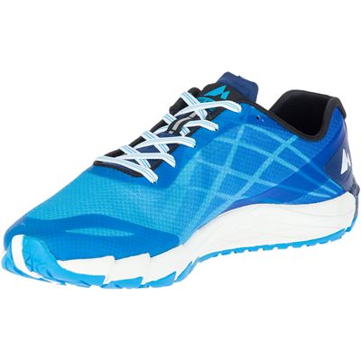Merrell Bare Access Flex Mens Running Shoes - Blue - Angled2