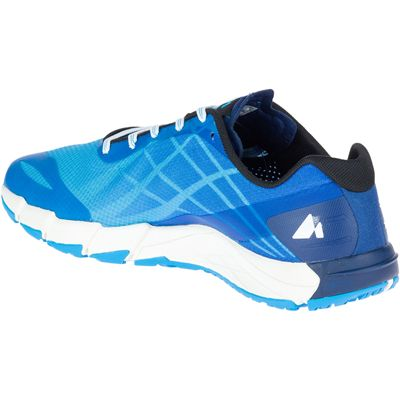 Merrell Bare Access Flex Mens Running Shoes - Blue - Angled3