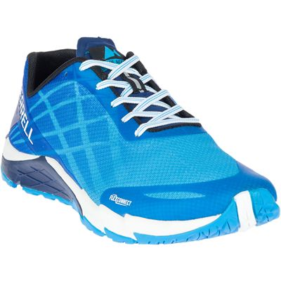 Merrell Bare Access Flex Mens Running Shoes - Blue - Angled