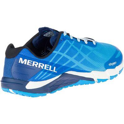 Merrell Bare Access Flex Mens Running Shoes - Blue - Back