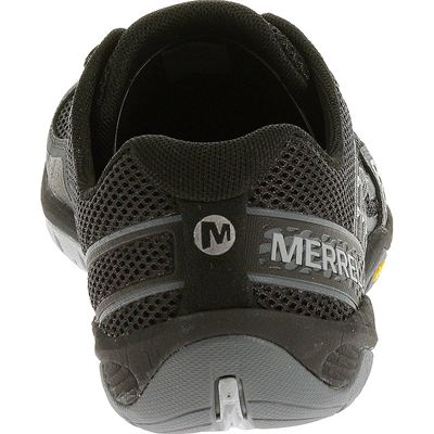 Merrell Trail Glove 3 Mens Running Shoes-Black and Grey-Back