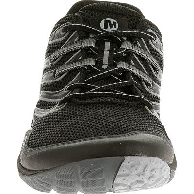 Merrell Trail Glove 3 Mens Running Shoes-Black and Grey-Front