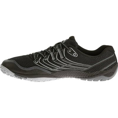 Merrell Trail Glove 3 Mens Running Shoes-Black and Grey-Lateral