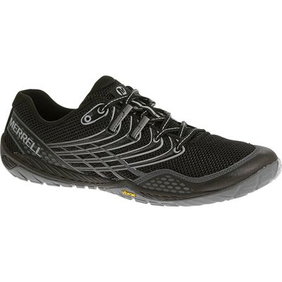 Merrell Trail Glove 3 Mens Running Shoes-Black and Grey-Side