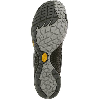 Merrell Trail Glove 3 Mens Running Shoes-Black and Grey-Sole