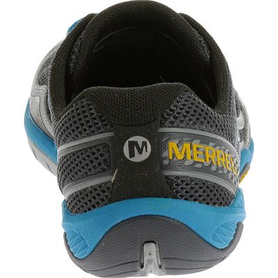 Merrell Trail Glove 3 Mens Running Shoes-Navy and Blue-Back