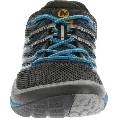 Merrell Trail Glove 3 Mens Running Shoes-Navy and Blue-Front