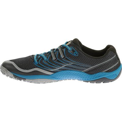 Merrell Trail Glove 3 Mens Running Shoes-Navy and Blue-Lateral