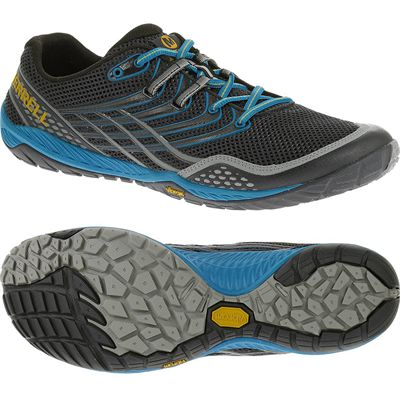 Merrell Trail Glove 3 Mens Running Shoes-Navy and Blue-Main Image