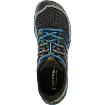 Merrell Trail Glove 3 Mens Running Shoes-Navy and Blue-Top