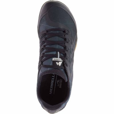 Merrell Trail Glove 4 Mens Running Shoe - Grey - Black - Above
