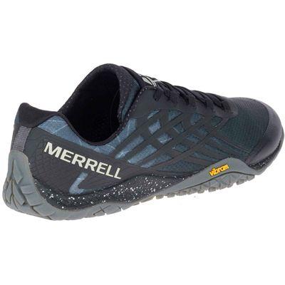Merrell Trail Glove 4 Mens Running Shoe - Grey - Black - Angled