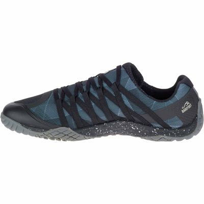 Merrell Trail Glove 4 Mens Running Shoe - Grey - Black - Side