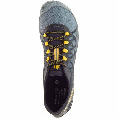 Merrell Vapor Glove 3 Mens Running Shoes - Grey - Above