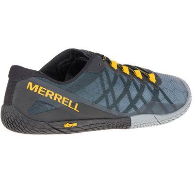 Merrell Vapor Glove 3 Mens Running Shoes - Grey - Angled