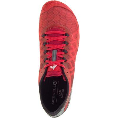 Merrell Vapor Glove 3 Mens Running Shoes - Red - Above