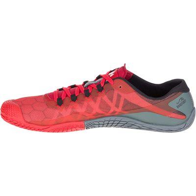 Merrell Vapor Glove 3 Mens Running Shoes - Red - Side