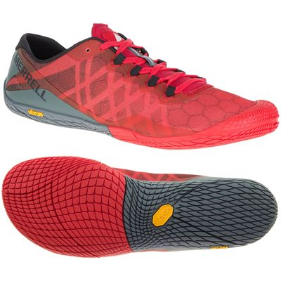Merrell Vapor Glove 3 Mens Running Shoes - Red