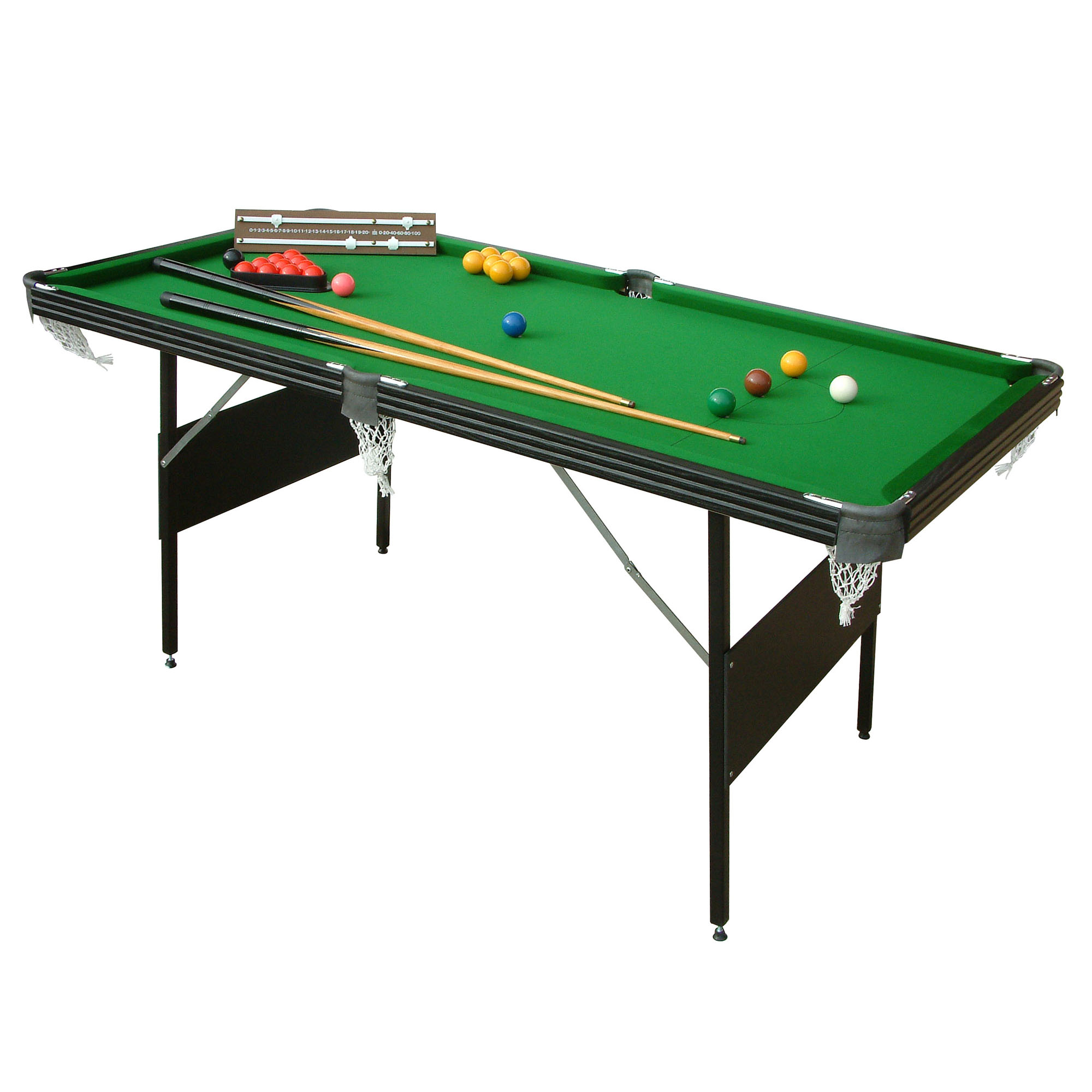 Mightymast 6ft Crucible 2 in 1 Snooker and Pool Table
