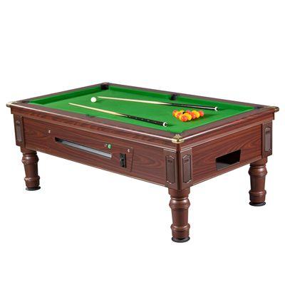 Mightymast 7ft Prince Slate Bed English Pool Table mahogany Green