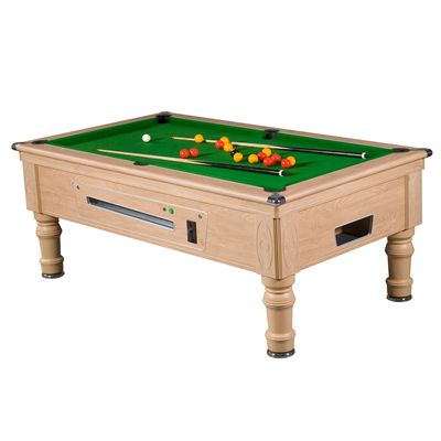 Mightymast 7ft Prince Slate Bed English Pool Table Oak Green