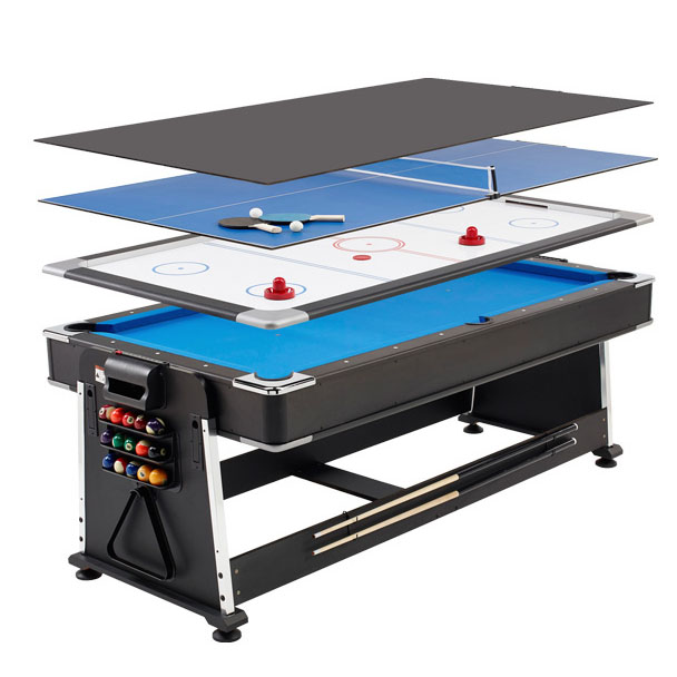 Folding Pool Table 7ft Mightymast 7ft Revolver 3in1 Pool Air Hockey and Table Tennis Table