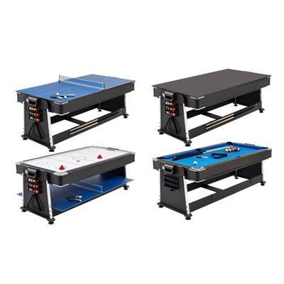 Mightymast 7ft Revolver 3-in-1 Pool, Air Hockey and Table Tennis Table - Variations