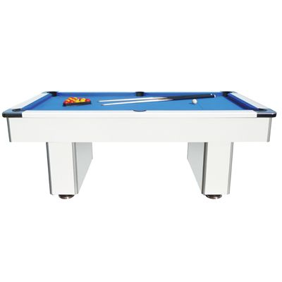 Mightymast 7ft Speedster Pool Table-Beech - White - Side