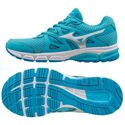 Mizuno Synchro MD Ladies Running Shoes-Blue-Silver-White
