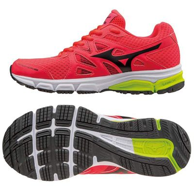 Mizuno Synchro MD Ladies Running Shoes-Pink-Black-Yellow