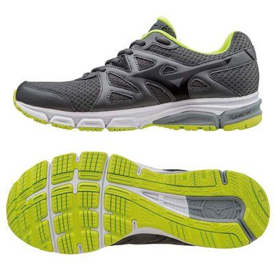 Mizuno Synchro MD Mens Running Shoes-Grey-Black-Yellow