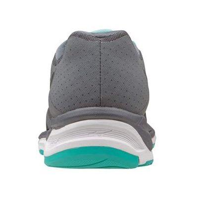 Mizuno Synchro MX Ladies Running Shoes-Grey-Black-Blue-Back View