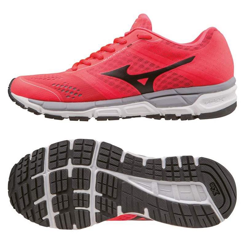 Mizuno Synchro MX Ladies Running Shoes SS16 - Pink/Black, 5.5 UK