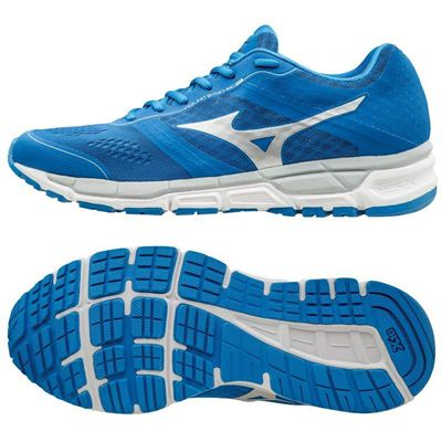 Mizuno Synchro MX Mens Running Shoes-Blue-Silver