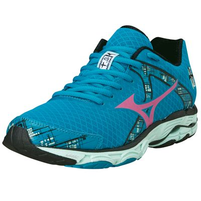 Mizuno Wave Inspire 10 Ladies Running Shoes 2014 - Blue and Pink