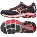 Mizuno Wave Inspire 11 Ladies Running Shoes-Black And Red