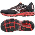 Mizuno Wave Inspire 11 Mens Running Shoes-Black and Silver and Orange