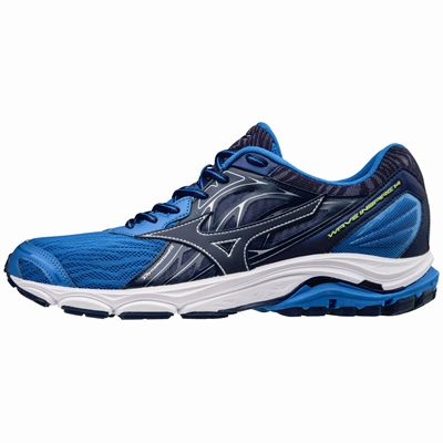 Mizuno Wave Inspire 14 Mens Running Shoes - Blue - Side